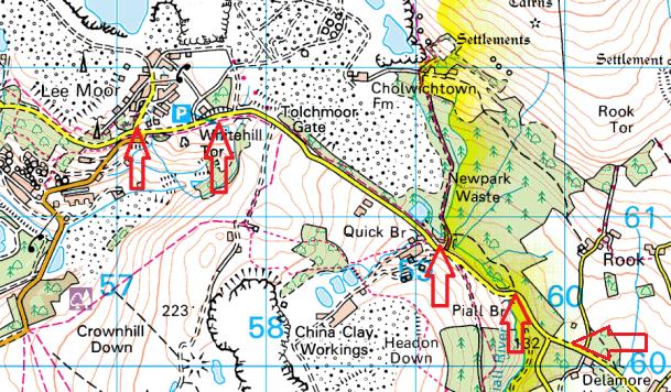 lee-moor-parking-map